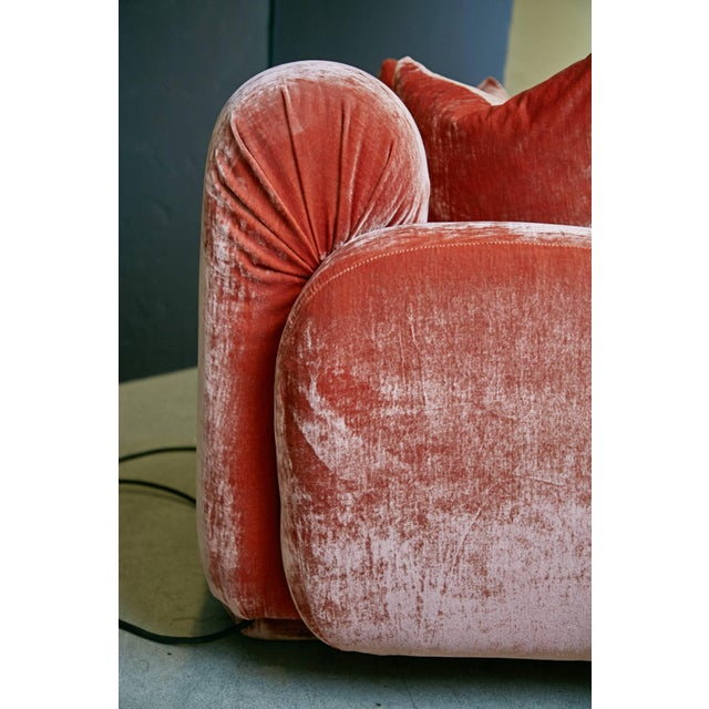 Fabric Custom Illuminating Pink Velvet Chaise by Steve Chase From Chase Designed Home For Sale - Image 7 of 10