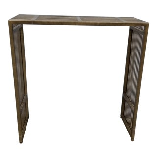 Brass Waterfall Console For Sale