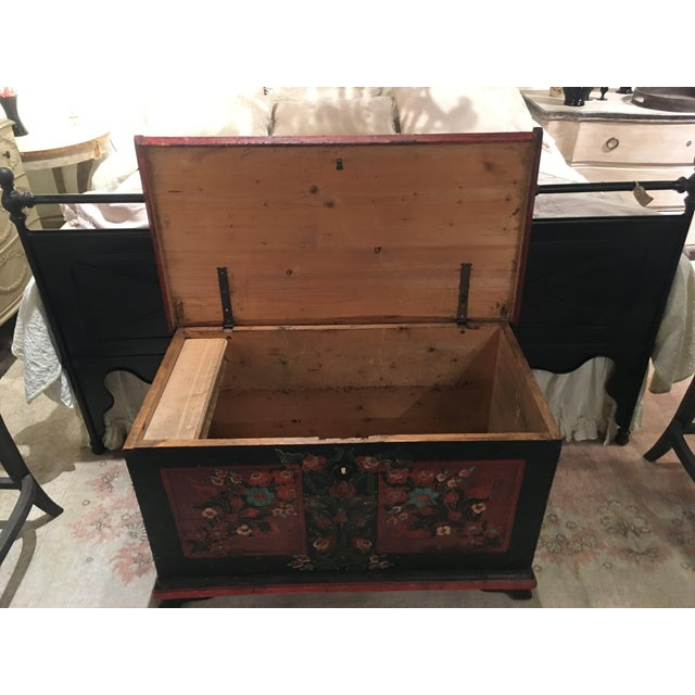 19th Century Painted Pine Chest For Sale In Denver - Image 6 of 9