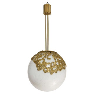1960s Moon' Globe Chandelier by Angelo Brotto For Sale