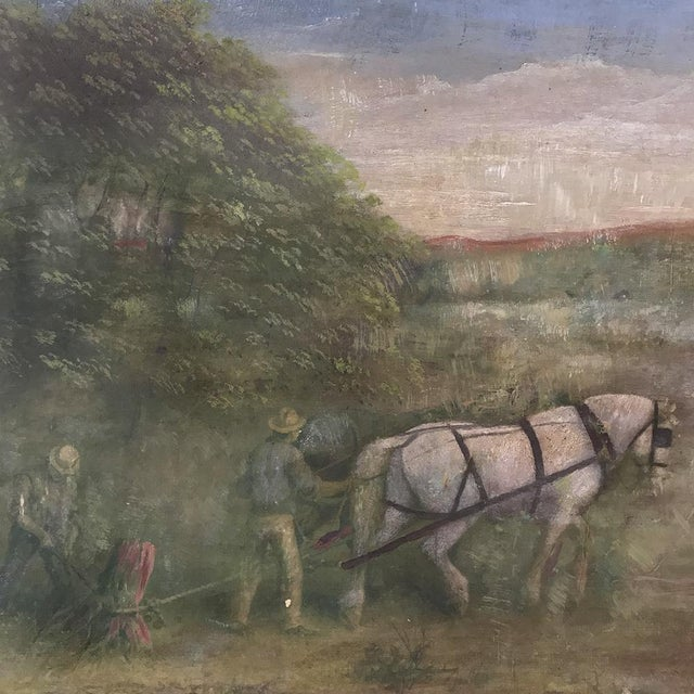 19th Century Framed Oil Painting on Canvas For Sale In Dallas - Image 6 of 13