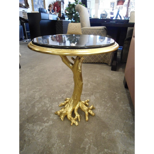 Gold Leaf Root Side Table - Image 2 of 10