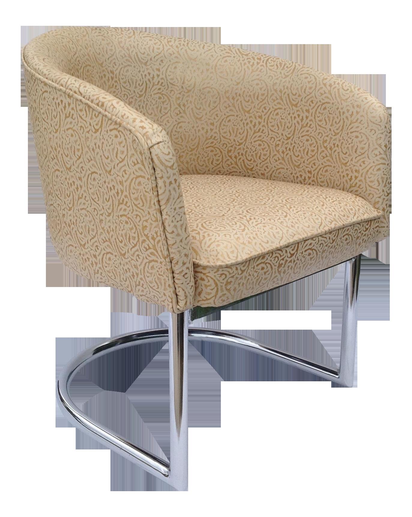 Merveilleux Milo Baughman Chrome Tub Club Chair   Image 1 Of 11