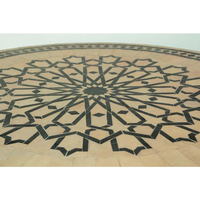 Moroccan Mosaic Tile Table in Fez Moorish Design For Sale - Image 9 of 11