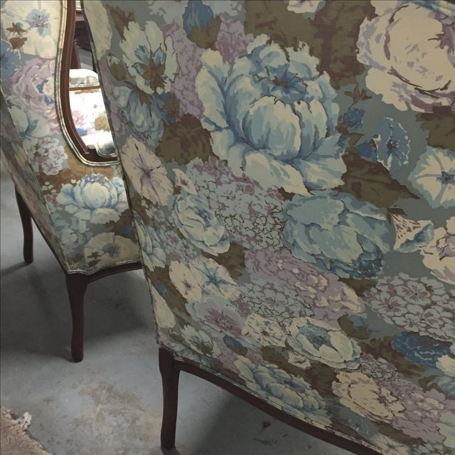 Large Peonies Upholstered Chairs - A Pair - Image 5 of 10