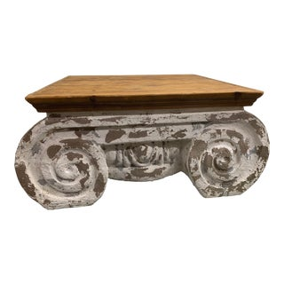 1970s Low Architectural Ionic Column Coffee Table For Sale
