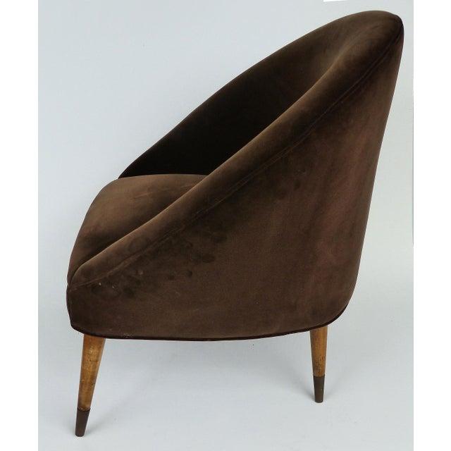 Gio Ponti Mid-Century Gio Ponti Style Club Chairs-A Pair For Sale - Image 4 of 11