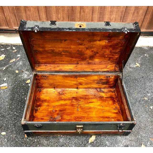 American Classical 19th Century American Classical Customized Travel Trunk For Sale - Image 3 of 12