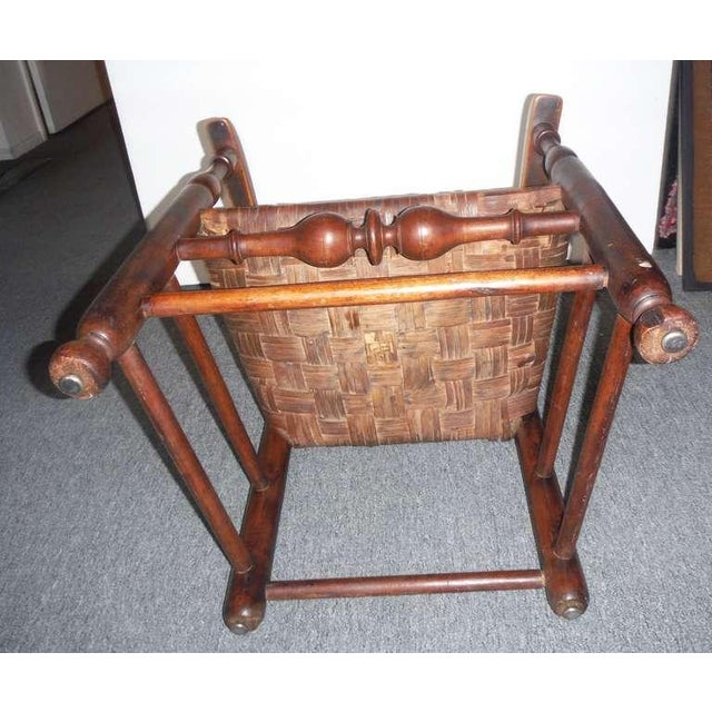 Rare 18th c. Delaware River Valley Ladder Back Side Chair - Image 7 of 8