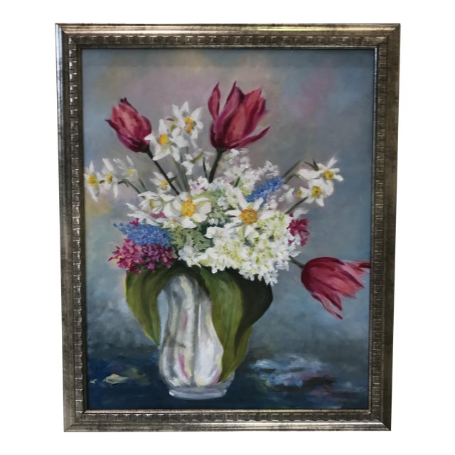 Spring Bouquet Flower Painting For Sale