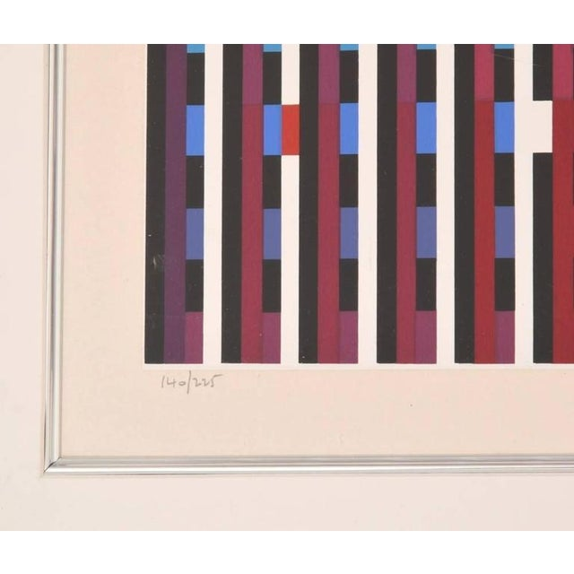 Modern Gorgeous Yaacov Agam Lithograph, 1970s Israel For Sale - Image 3 of 3