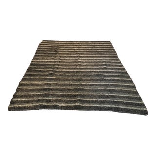 Handwoven Recycled Cotton Rug - 6′6″ × 9′3″ For Sale