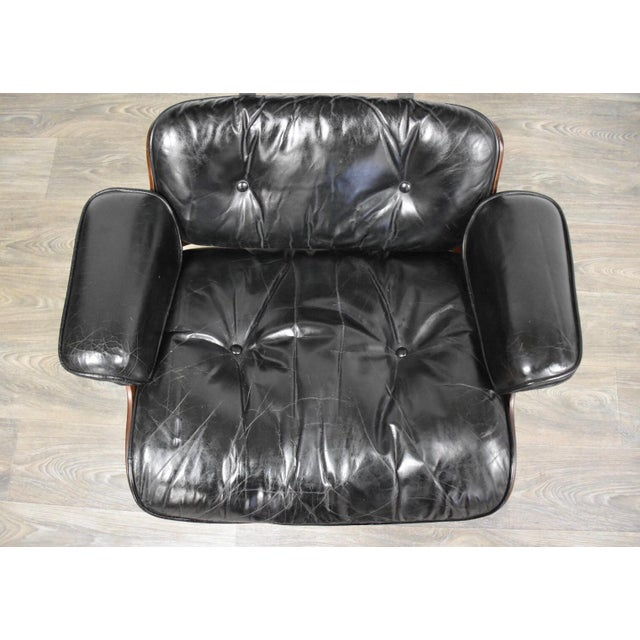 Original Herman Miller Eames Lounge Chair & Ottoman For Sale In Boston - Image 6 of 12