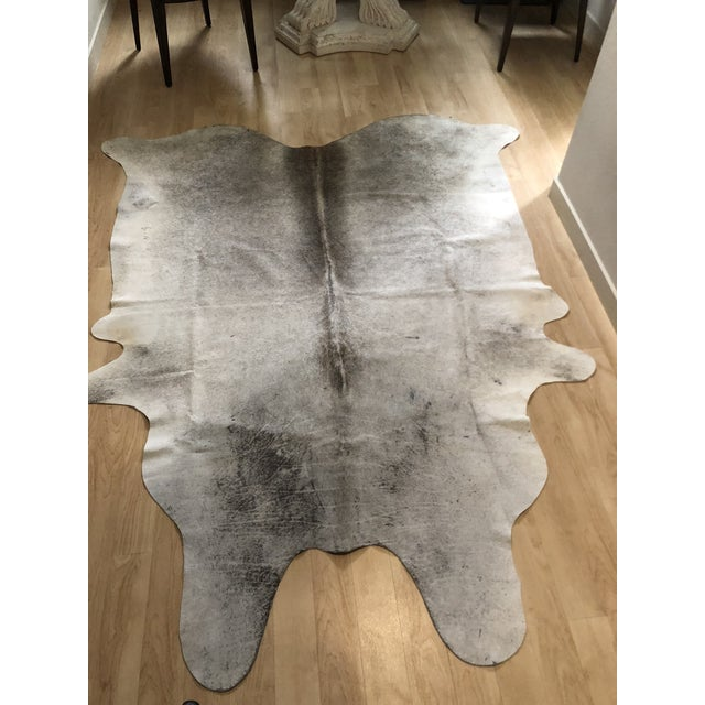 "2010s Contemporary Brazilian Cowhide Rug - 7'9"" X 6'2"" For Sale - Image 5 of 5"