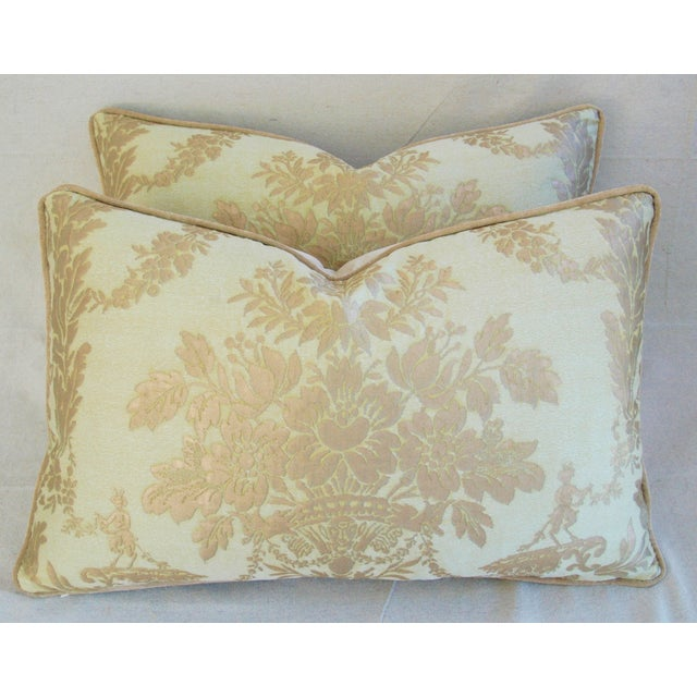 Italian Mariano Fortuny Boucher Pillows - A Pair - Image 2 of 11