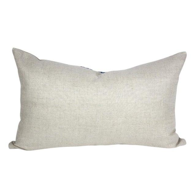 Indigo Batik Linen Pillows - A Pair - Image 5 of 5