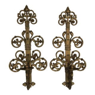 1960s Hollywood Regency Homco Sconces - a Pair For Sale