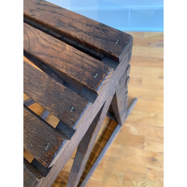 "Rustic ""Museum Crate"" Console Table For Sale - Image 10 of 12"