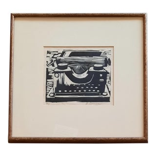 Typewriter Block Print by B. Gilmore For Sale