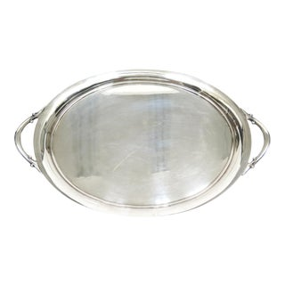 Vintage Large Wilcox Silver Tray For Sale