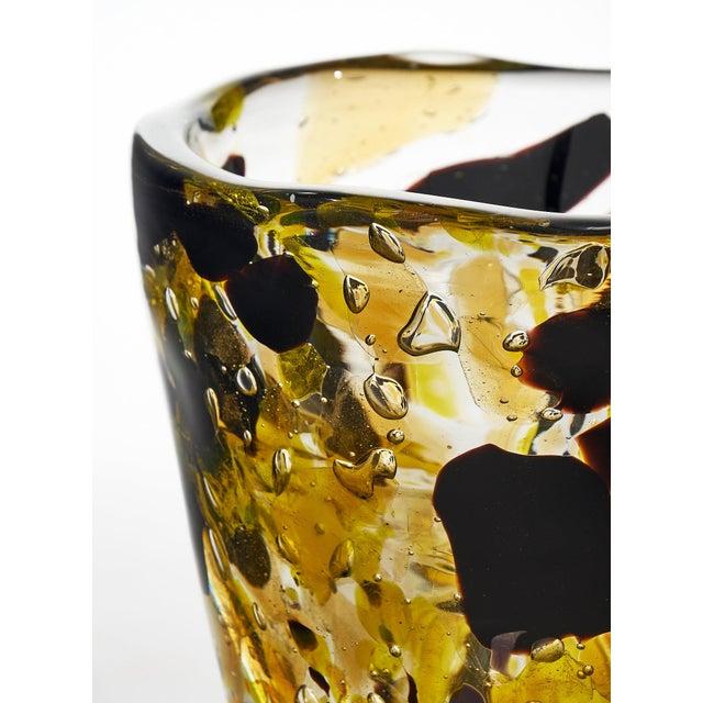 "Contemporary Murano Glass ""Pollock"" Vase For Sale - Image 11 of 12"