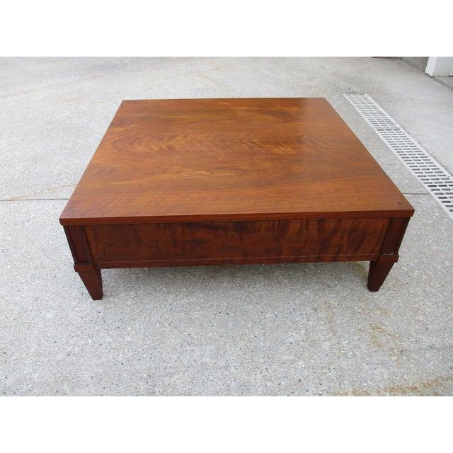 Mid-Century Modern Baker Milling Road Walnut Low Side or Display Table For Sale - Image 3 of 12
