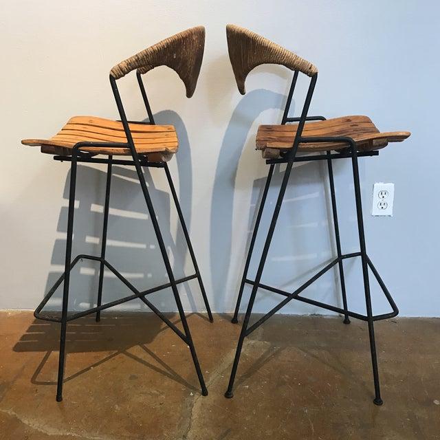 Arthur Umanoff Bar Stools - A Pair - Image 3 of 11