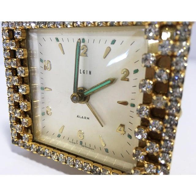 Elgin West Germany Rhinestone Alarm Clock - Image 5 of 7