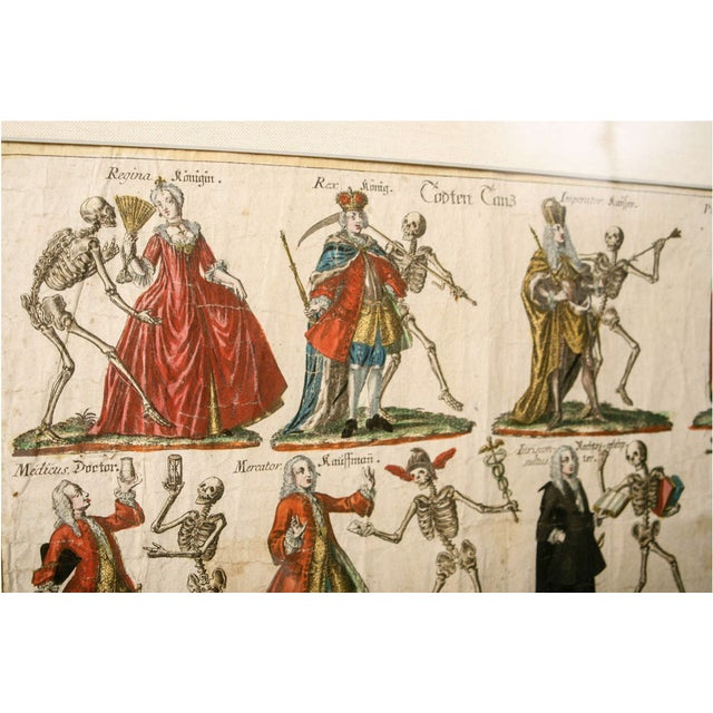 "19th Century German ""Dance With Death"" Aquatints Prints - a Pair For Sale In Nashville - Image 6 of 10"