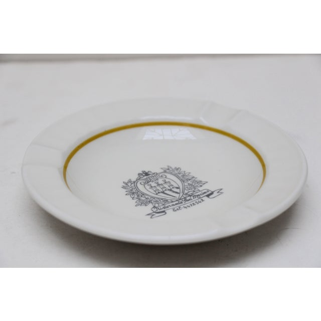 Ristorante San Marino Porcelain Ashtray - Image 4 of 6