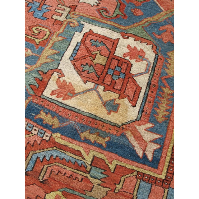 Late 19th Century Serapi (Heriz) Carpet For Sale - Image 5 of 7