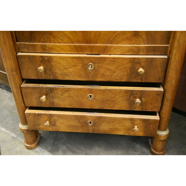 Brown Empire Secretaire For Sale - Image 8 of 9