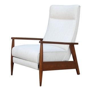 Milo Baughman Style Recliner Chair