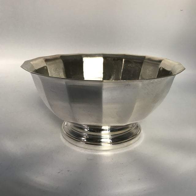 Americana Vintage Gorham Fluted Silve Plate Bowl For Sale - Image 3 of 8