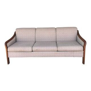 1980s Vintage Wood Sofa For Sale