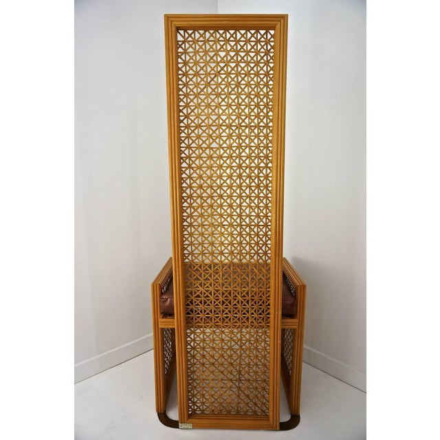 Italian Rattan Dining Chairs With French Caning by Vivai Del Sud - Set of 8 For Sale In West Palm - Image 6 of 11