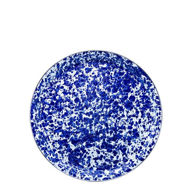 Modern Medium Tray Cobalt Swirl For Sale - Image 3 of 3