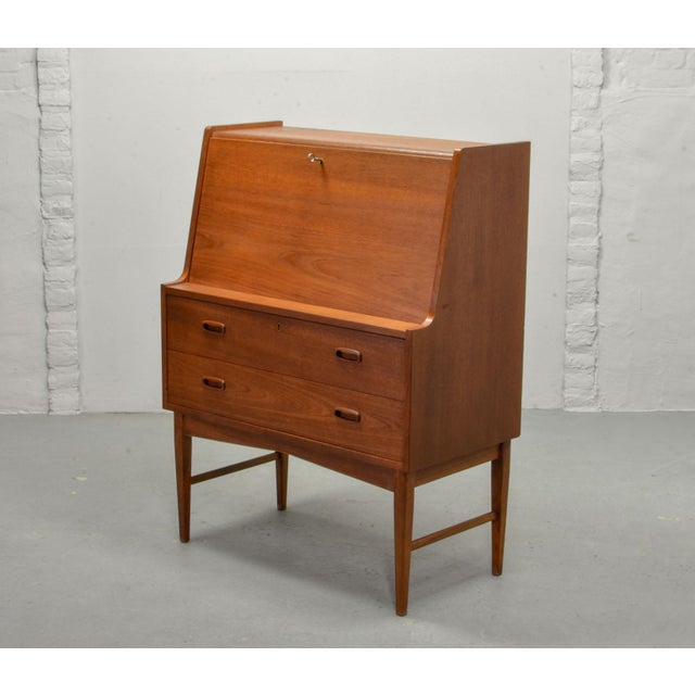 Mid-Century Scandinavian Design Teak Writing Desk, Scandinavia, 1960s For Sale - Image 4 of 11