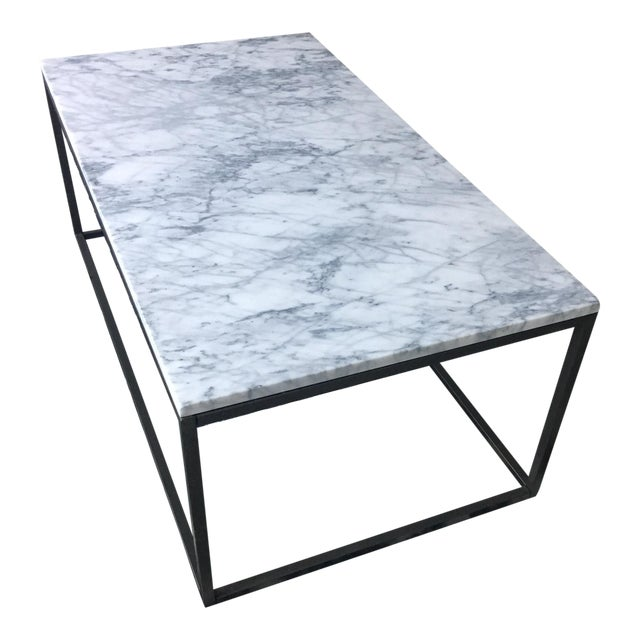 West Elm Marble Coffee Table - Image 1 of 4
