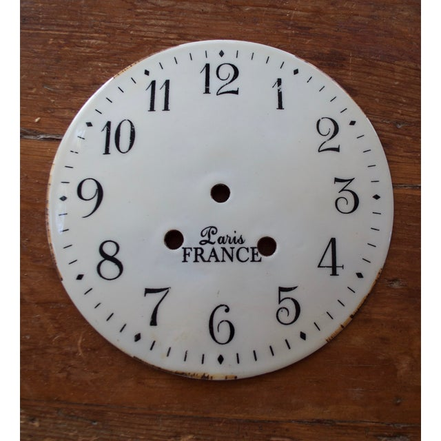 French Shabby Chic Clock Faces - A Pair - Image 4 of 5