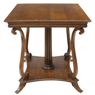 Turn of the Century American Classical Revival Oak Table For Sale