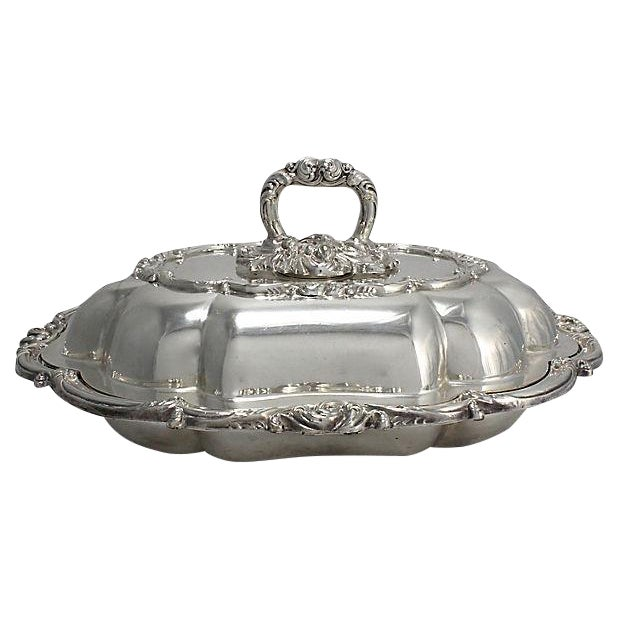 Viners English Silver-Plate Serving Dish - Image 1 of 5