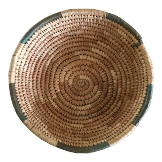 Handwoven Green Grass Basket For Sale