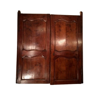 18th Century Antique French Walnut Window-Blind Doors For Sale