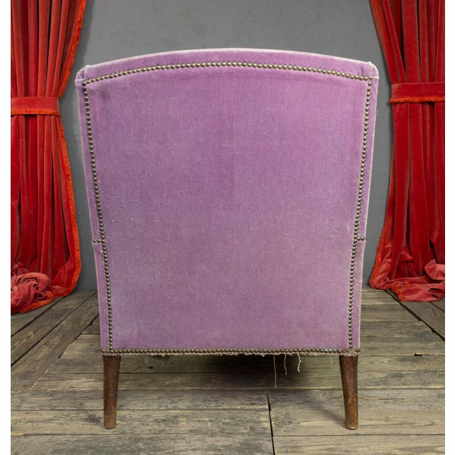 Lavender French Faded Lavender Velvet Chaise For Sale - Image 8 of 11