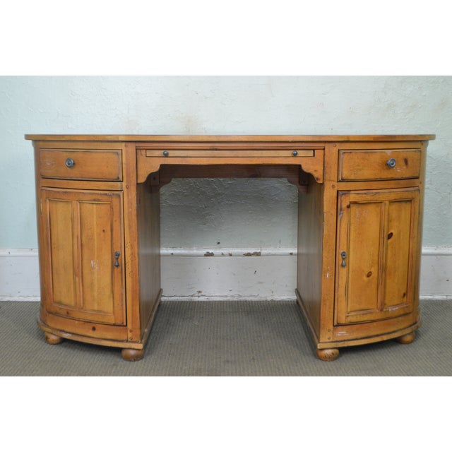 Drexel Heritage Pinehurst Collection Oval Desk For Sale - Image 10 of 13