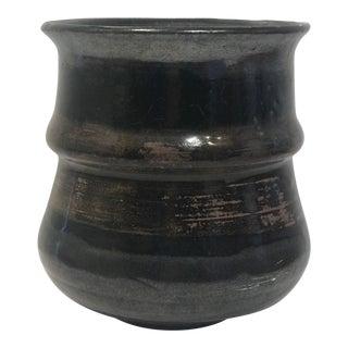 Vintage Earth Tone Studio Pottery Vase For Sale