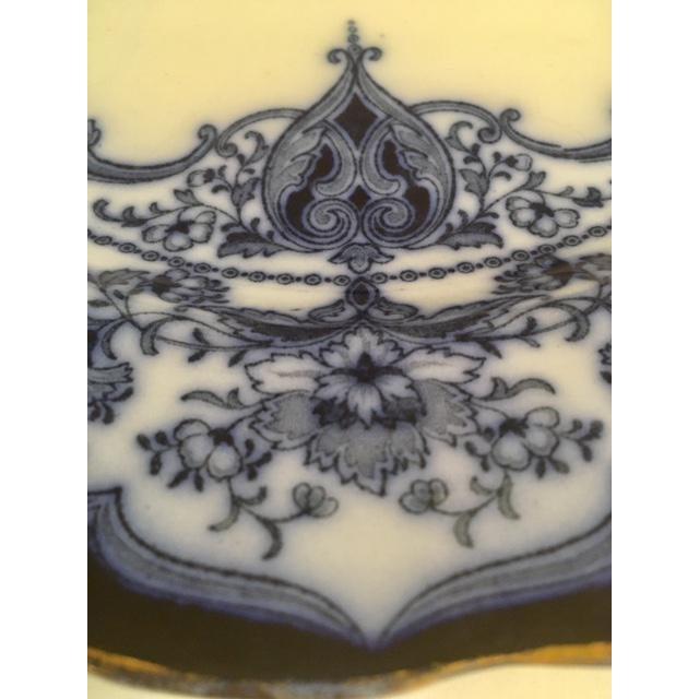 Antique Flow Blue Plates - Set of 6 - Image 5 of 6