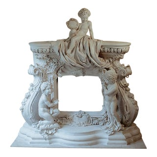 French Baroque Style Modern Mantel For Sale
