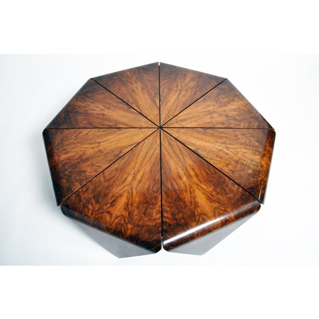 Hungarian Walnut Octagonal Coffee Table For Sale - Image 9 of 13